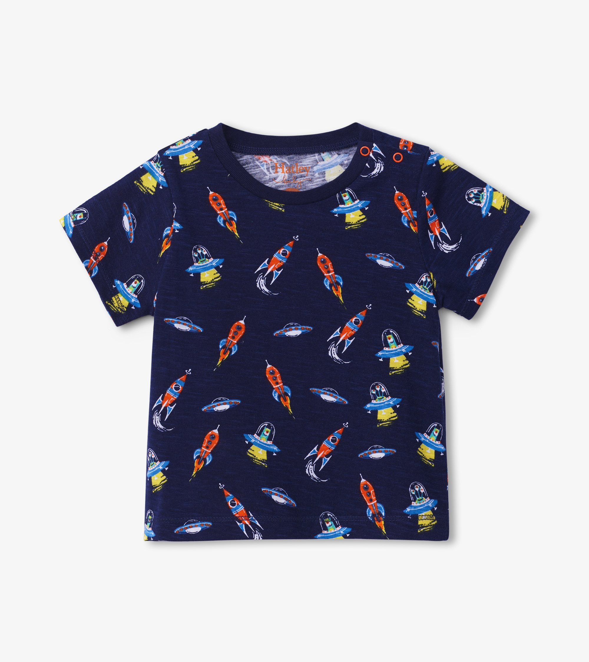 Hatley Retro Rockets Baby Graphic Tee