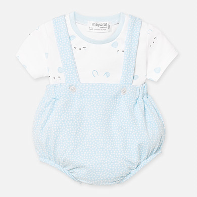 Mayoral Dungaree & T-Shirt Set Blue (1660)