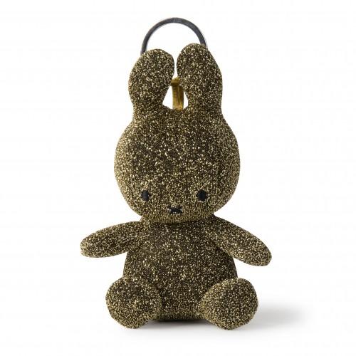 Miffy Keyring - Sparkle Glitter Gold