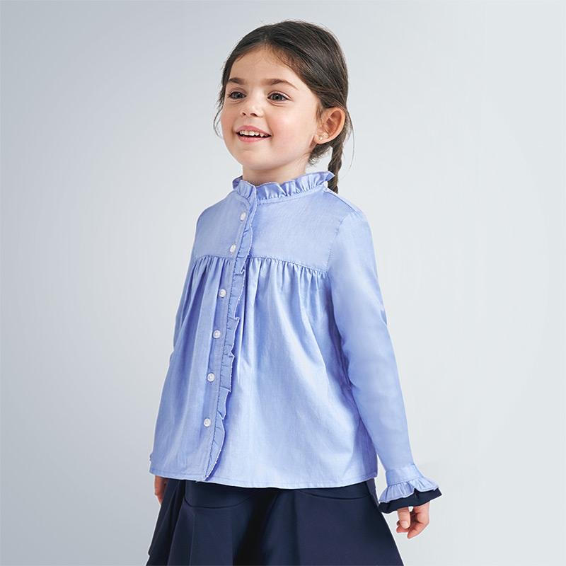 Mayoral Ruffled Shirt Blue (4151) (was £27)