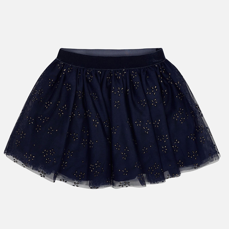 WAS £27.00 Mayoral Diamanté Tulle Skirt Navy (4901)