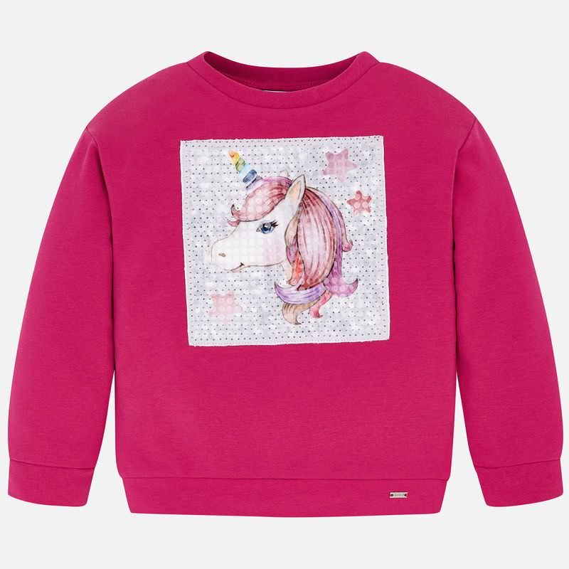 WAS £25.00 Mayoral Unicorn Sweatshirt Fuchsia (4404)