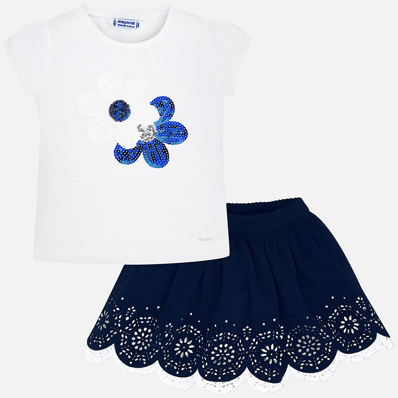 Mayoral T-shirt & Skirt Set Navy (3965)