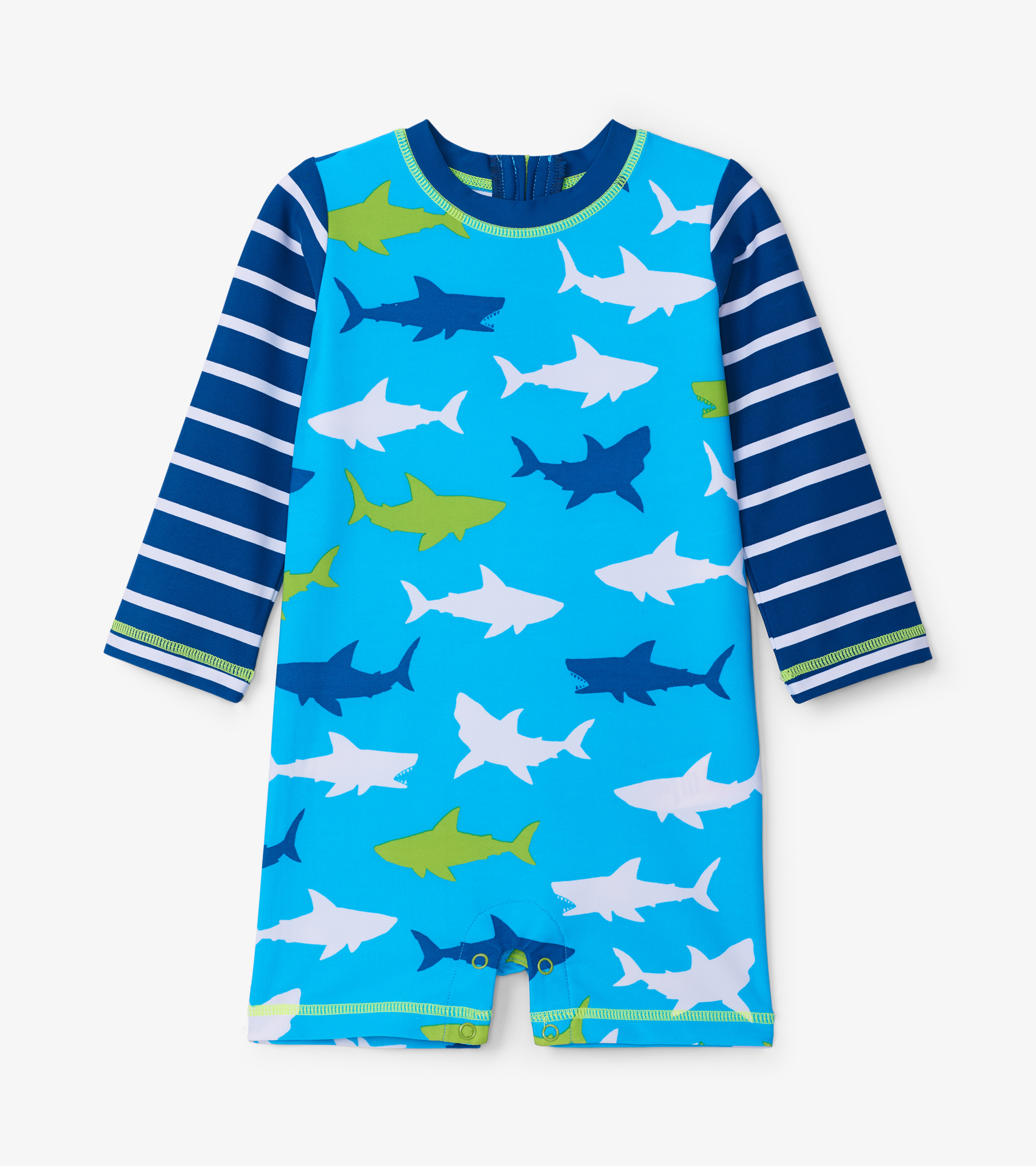 Hatley Great White Sharks Baby Rashguard One-Piece