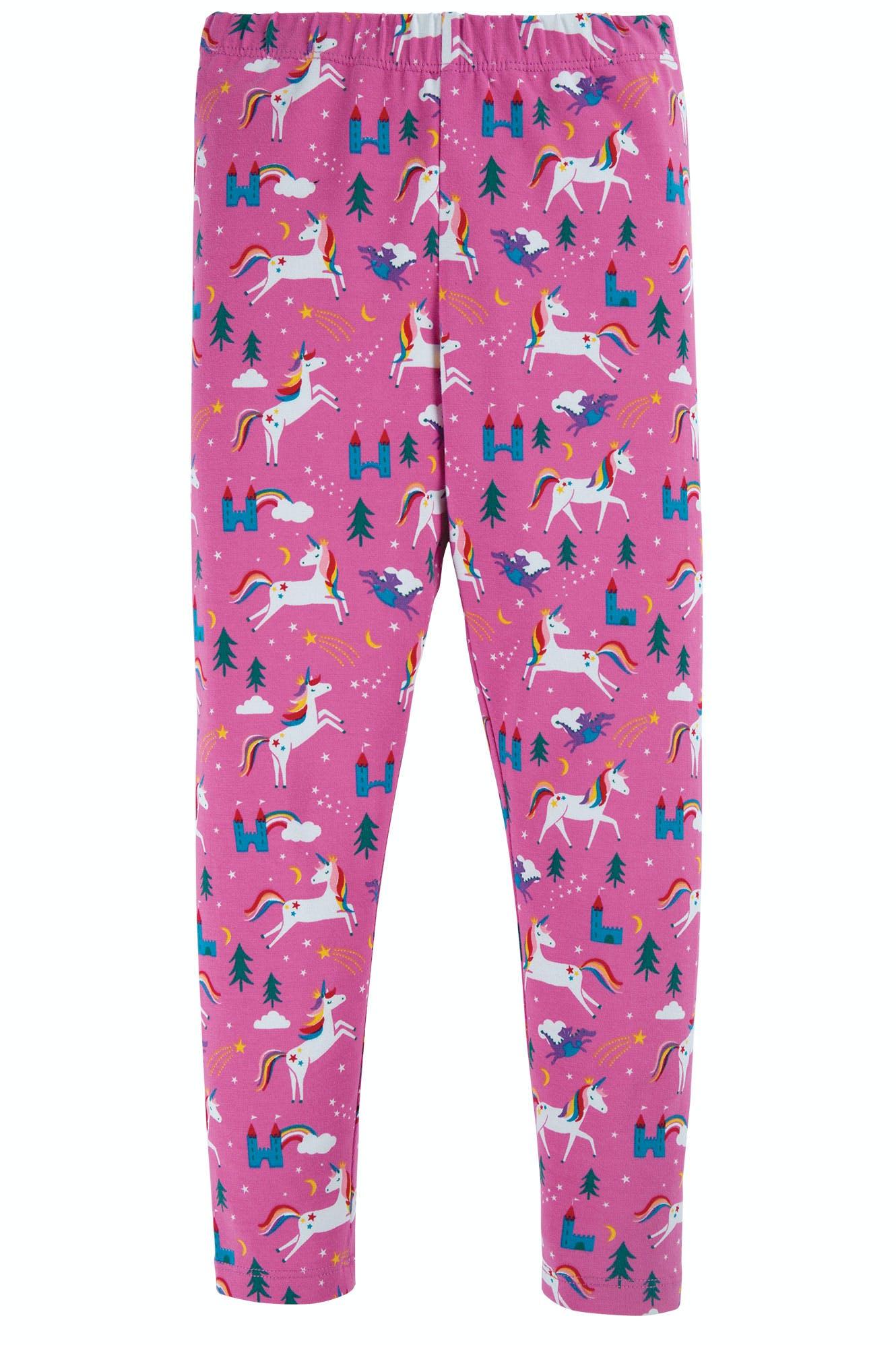 SALE £12.80 Frugi Libby Printed Leggings-Unicorn (WAS £16)