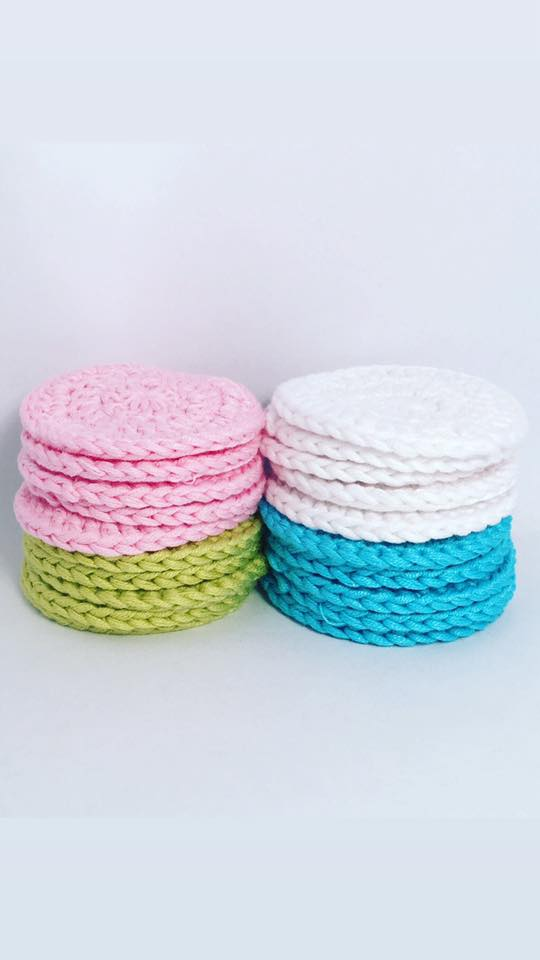 Crocheted Facial Scrubs - 70% Bamboo