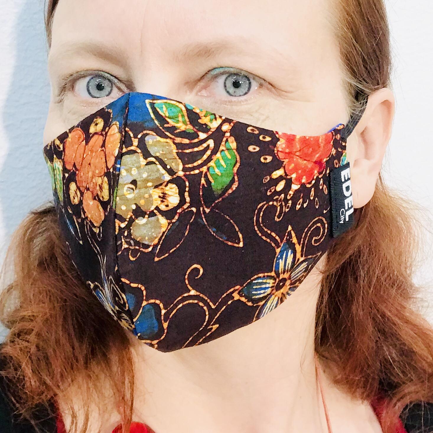 Face mask batik - kasvomaski - Maske - DOME Upcycling ...