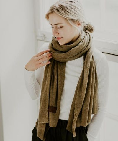 Large knitted scarf - Covert