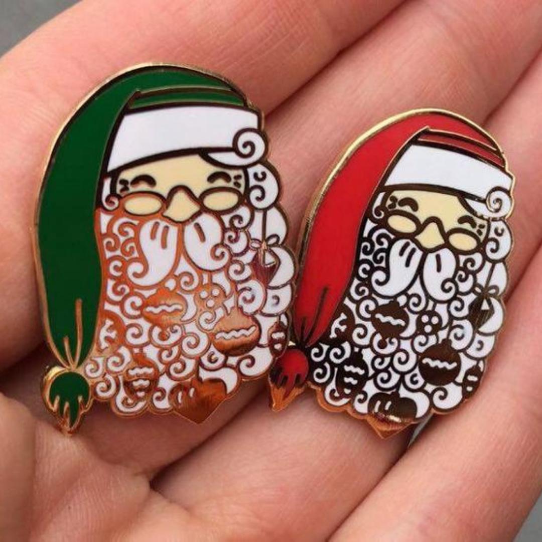 Enamel Pin Santa