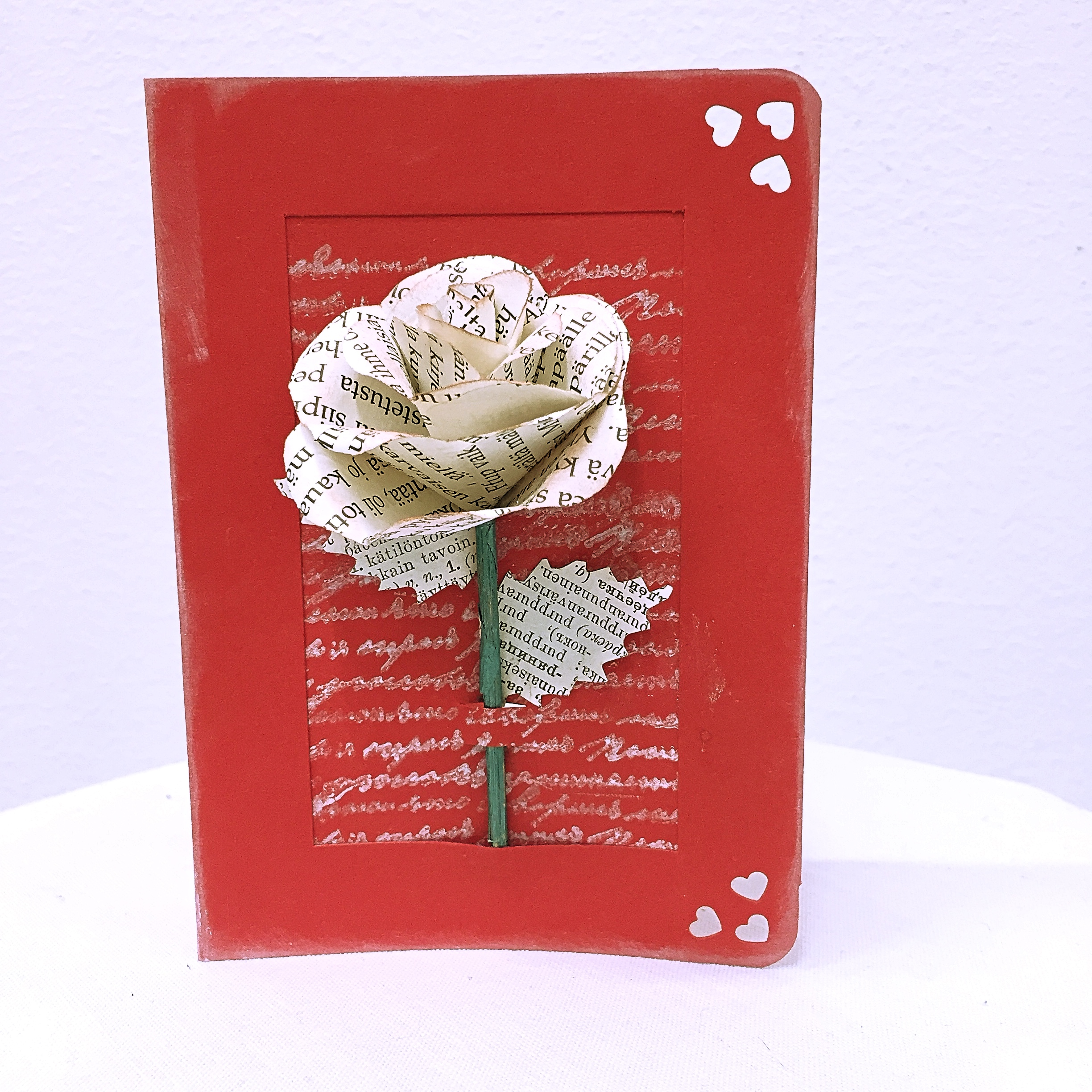 Art card with flower