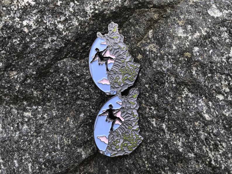 Enamel Pin Climbing in Finland