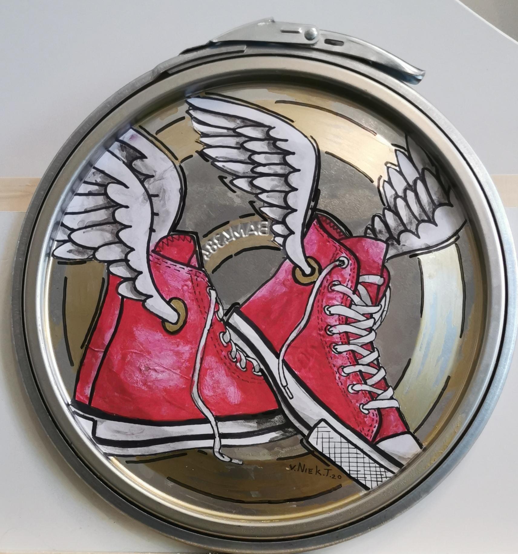 Paint Lid Art - Sneaker Wings
