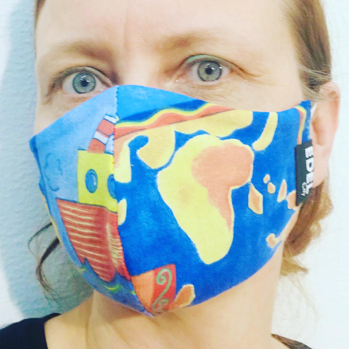 Face mask Fish and Ships