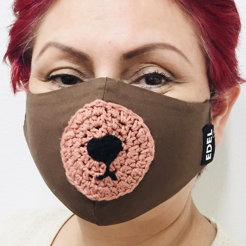 Face mask bear nose