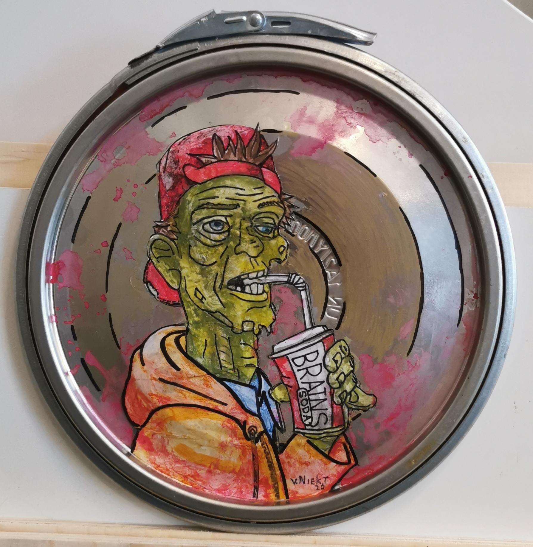 Paint Lid Art - Zombie