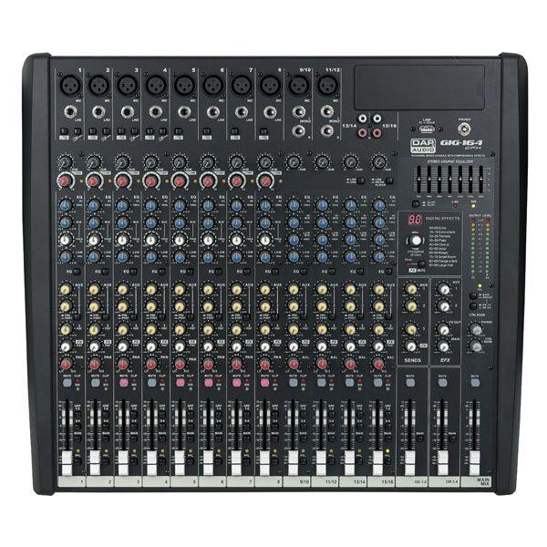 DAP GIG-164CFX Live Mixers 16 Channel live mixer incl. dynamics & DSP