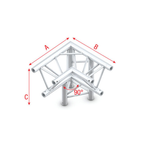 MILOS Corner 90° down right, apex down Pro-30 Triangle G Truss