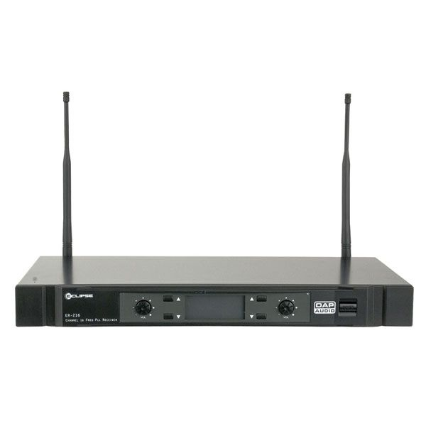 DAP ER-216B Wireless Systems 2 Channel 16 Freq. PLL Receiver 822-846
