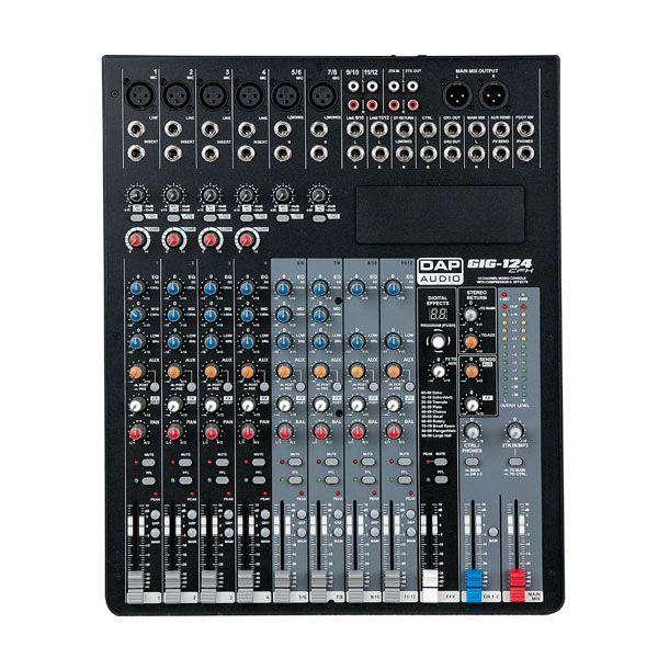 DAP GIG-124CFX Live Mixers 12 Channel live mixer incl. dynamics & DSP