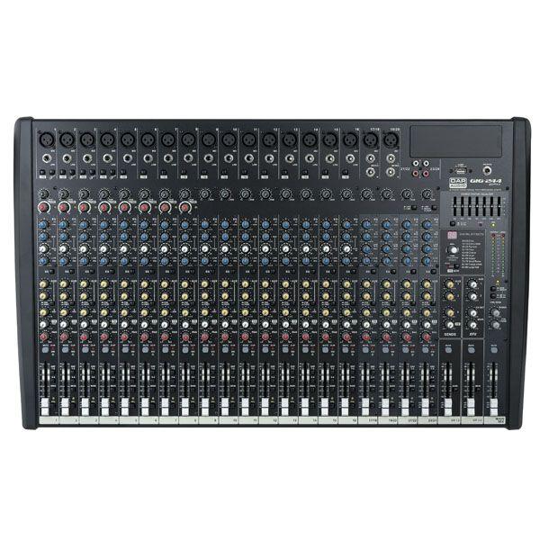 DAP GIG-244CFX Live Mixers 24 Channel live mixer incl. dynamics & DSP