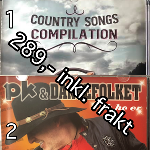 01, 2 CDer Country Songs & Slik Ho Er, Fraktfritt
