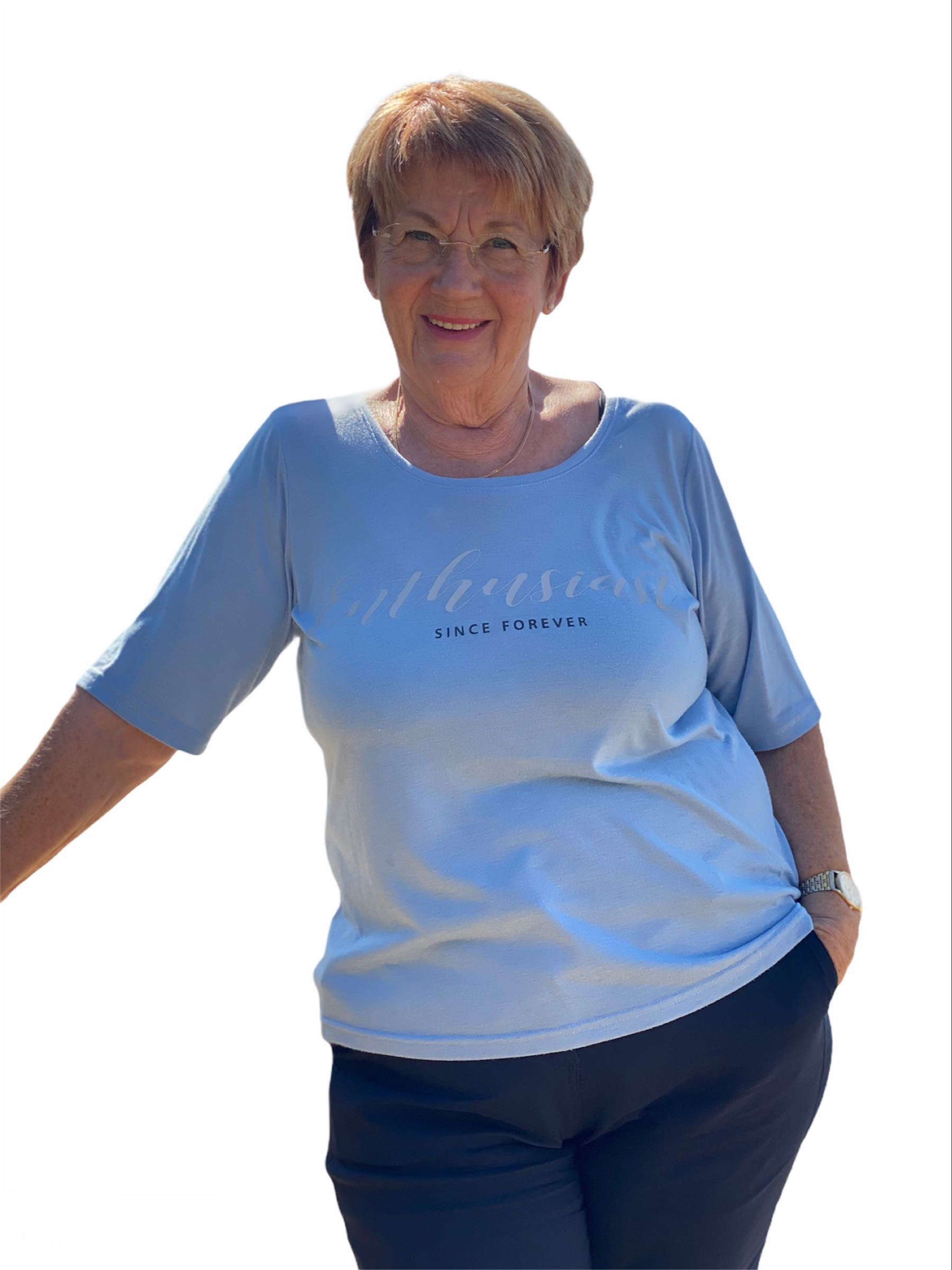ALBERTA t-shirt, ljusblå