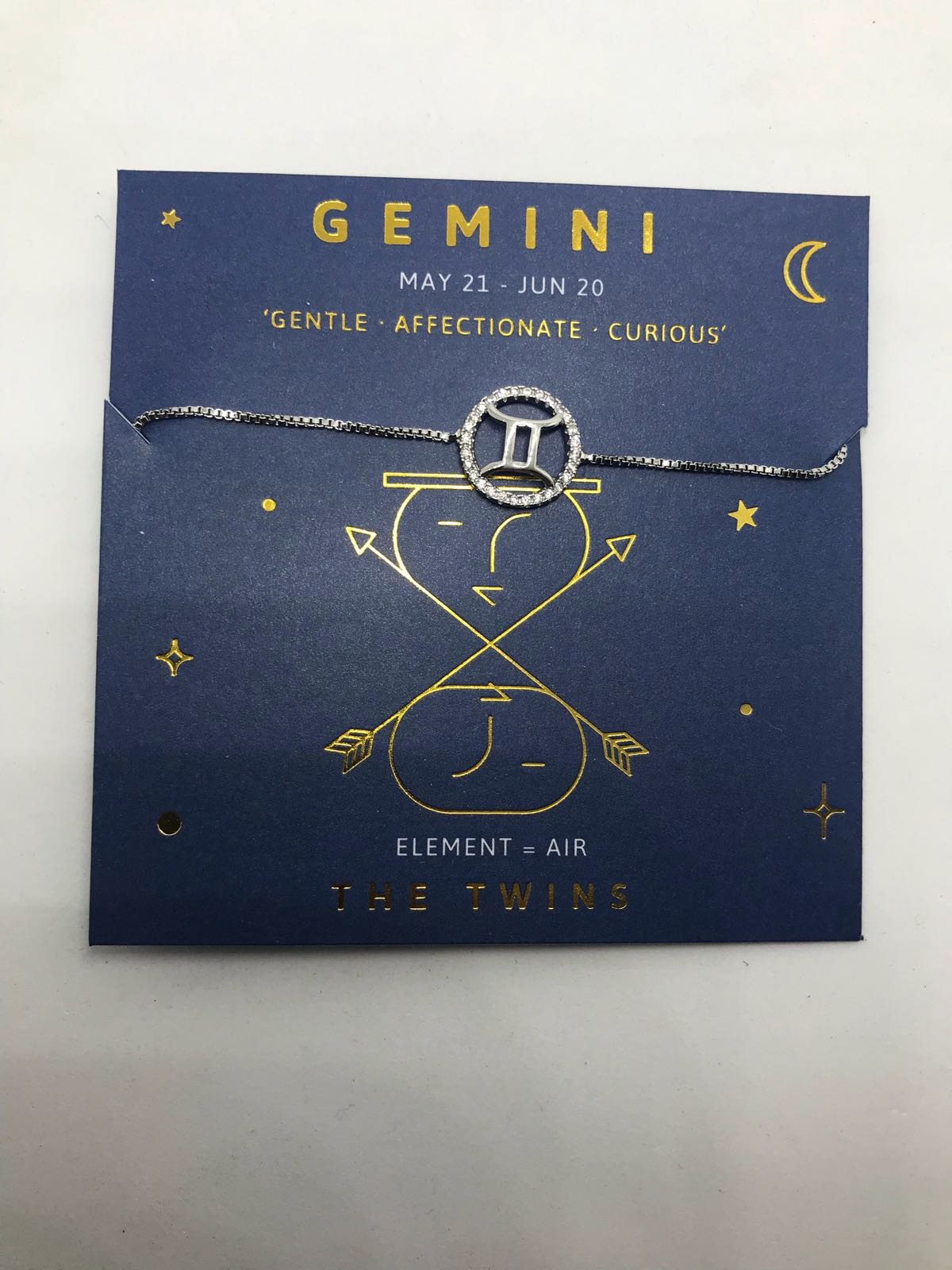 Life Charms Gemini sign bracelet