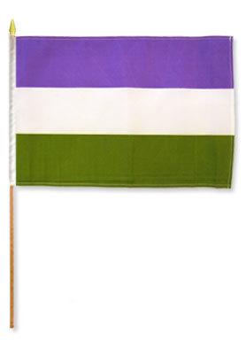 Handflagg - Genderqueer