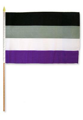 Handflagg - Aseksuell