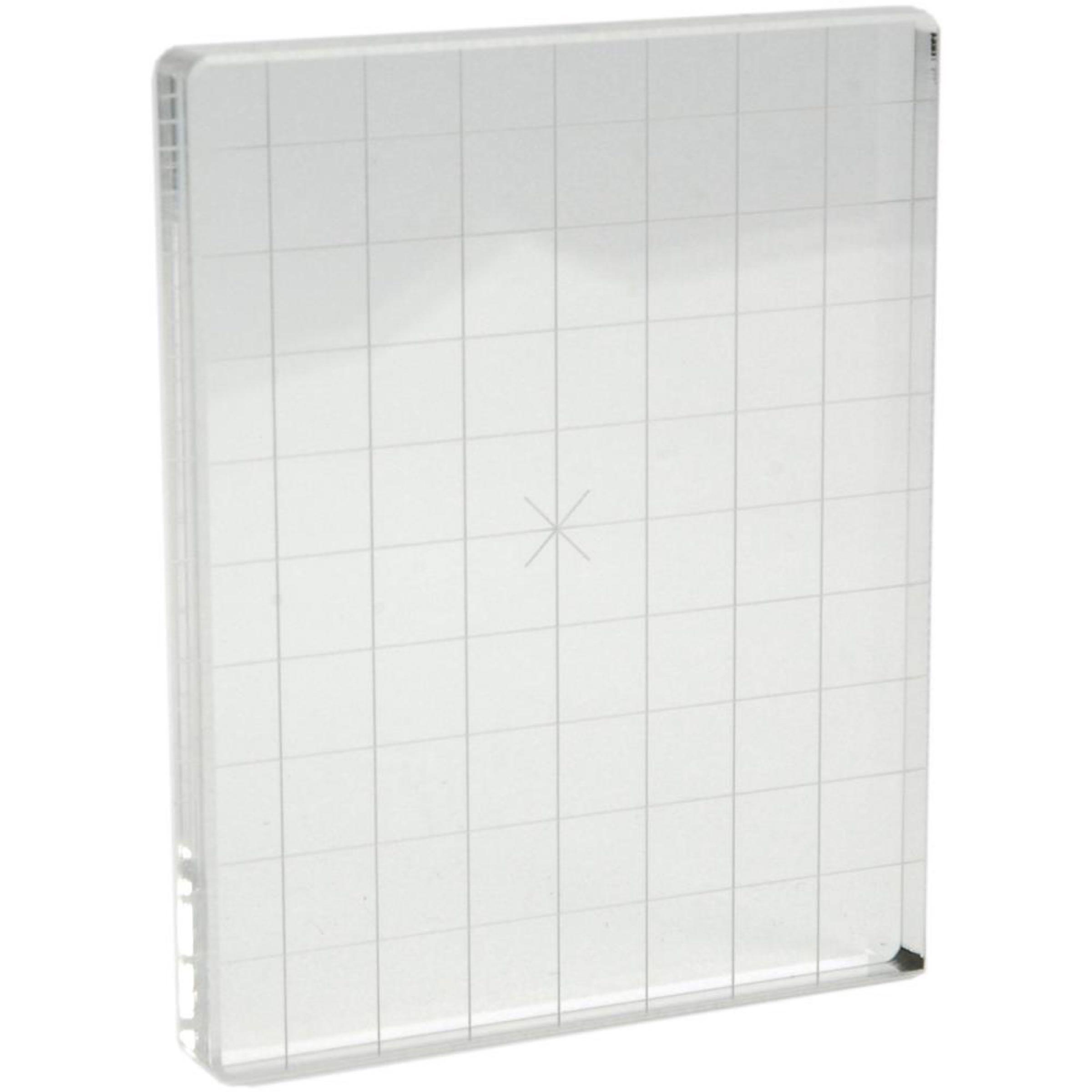 Acrylic Stamping Block with Alignment Grid /Akryl Stemplingblokk med Justeringsgitter  4