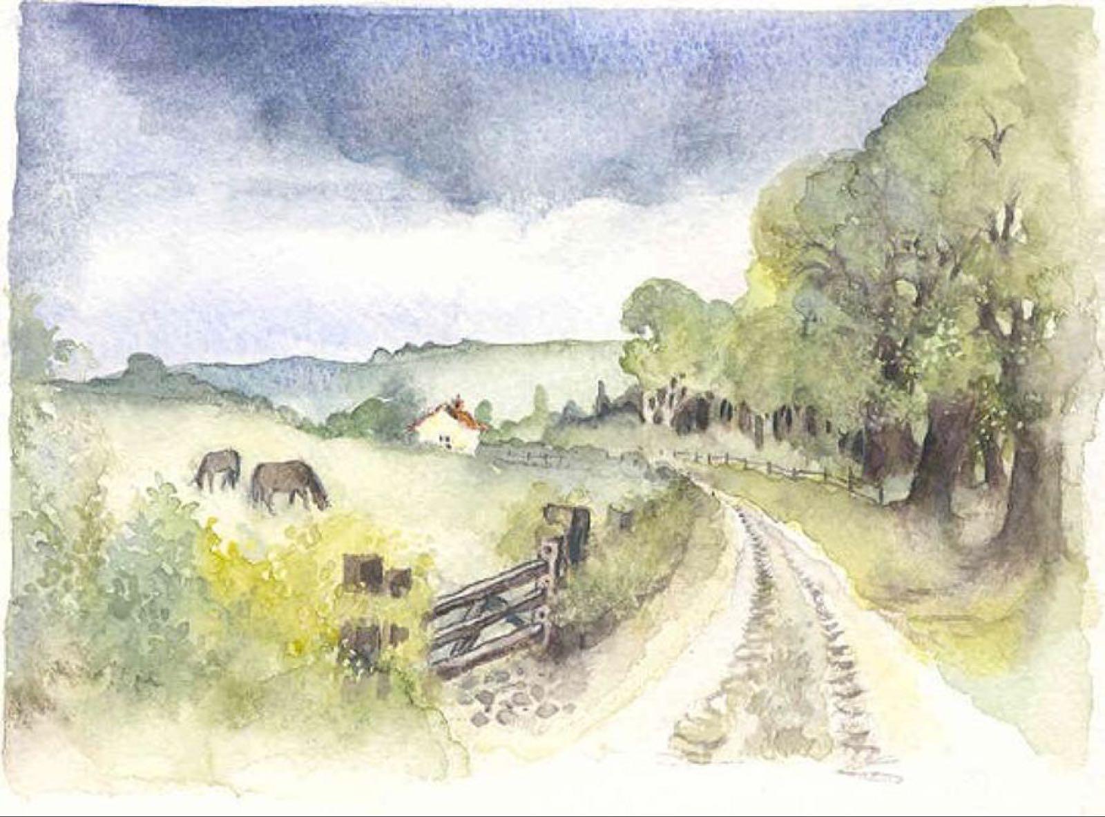 'Country Lane' Furzedown Gallery Mini Card