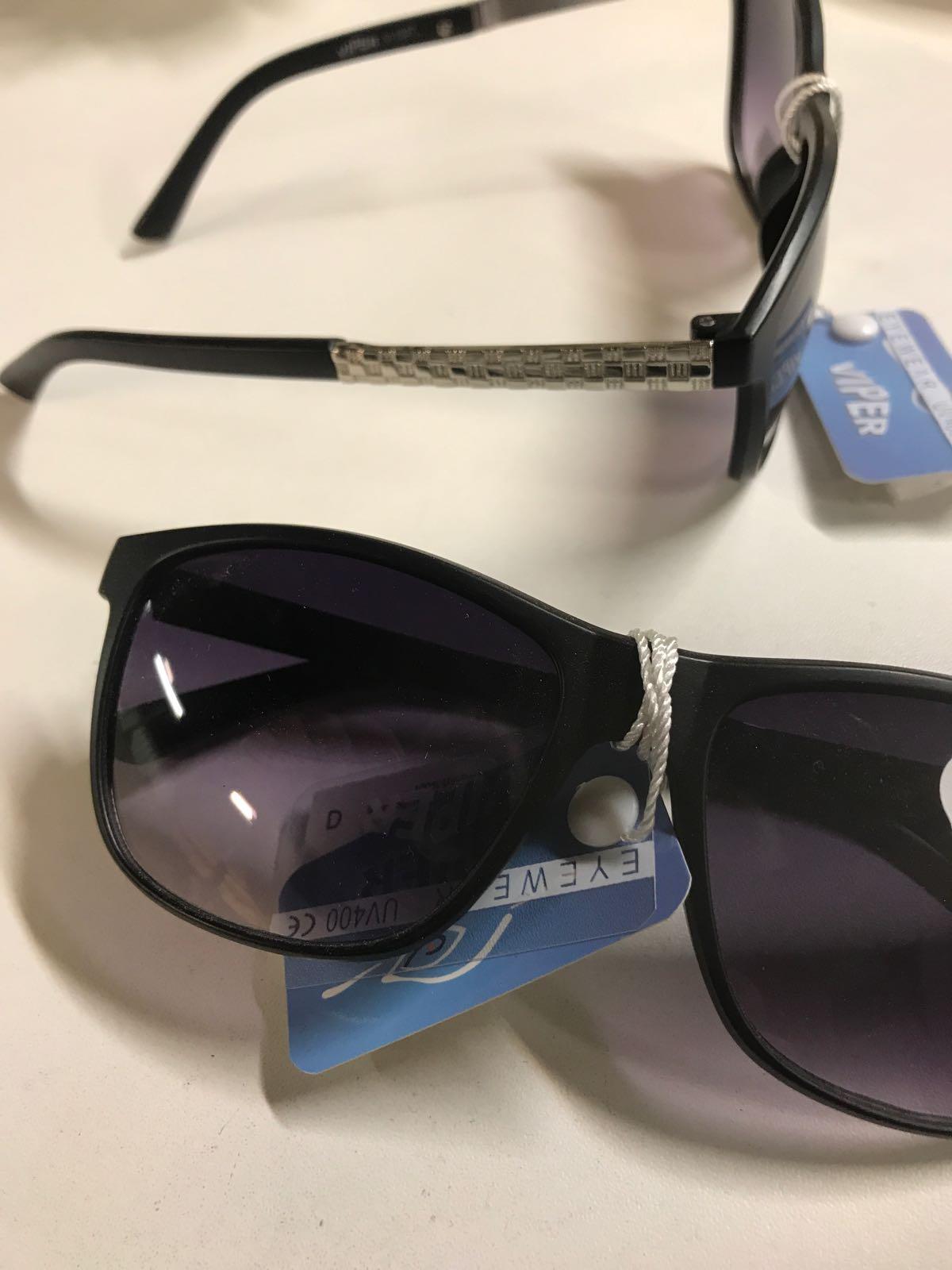 "Solglasögon svarta ""Viper""  UV400"