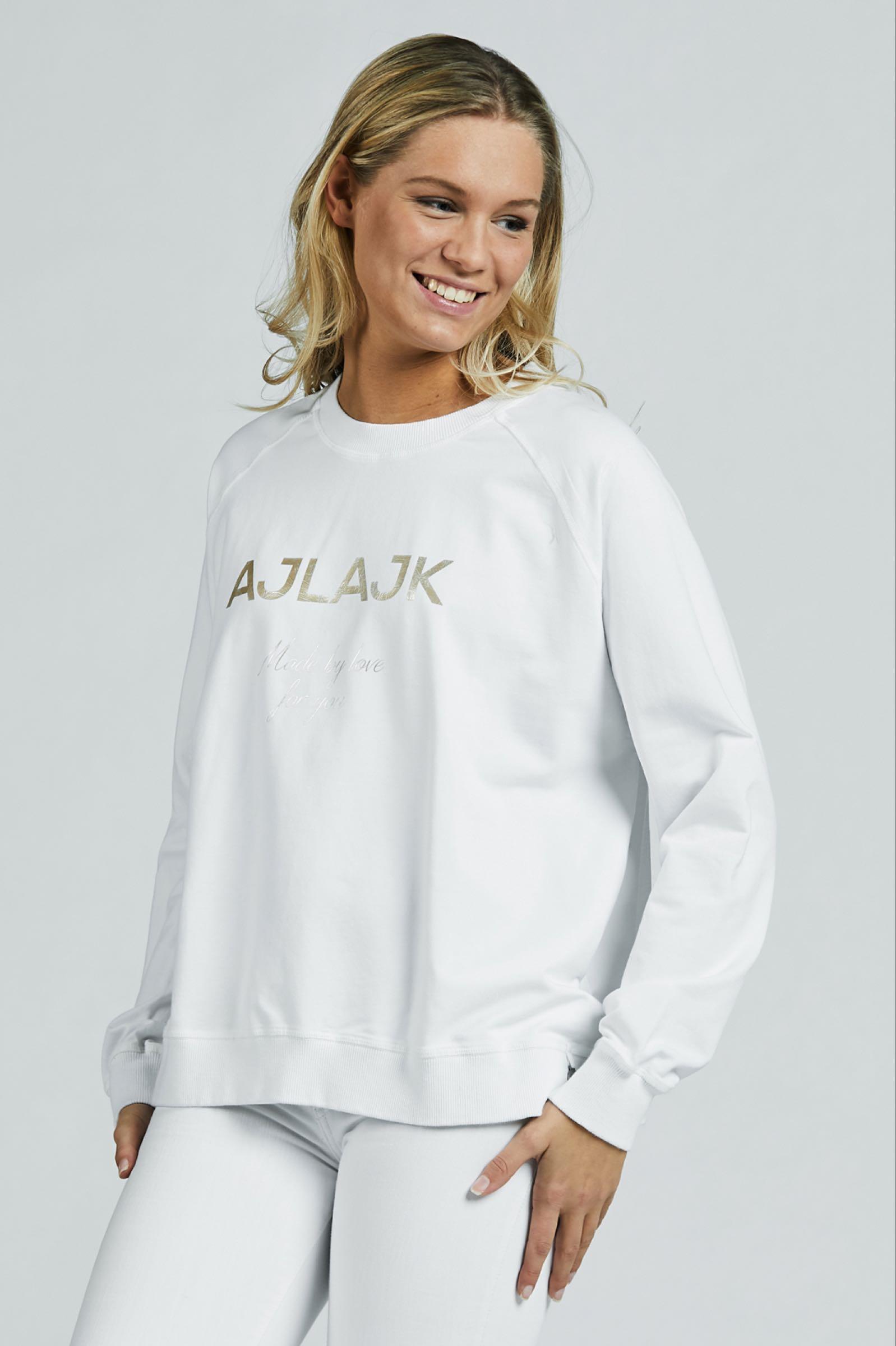 Sweatshirt, white gold
