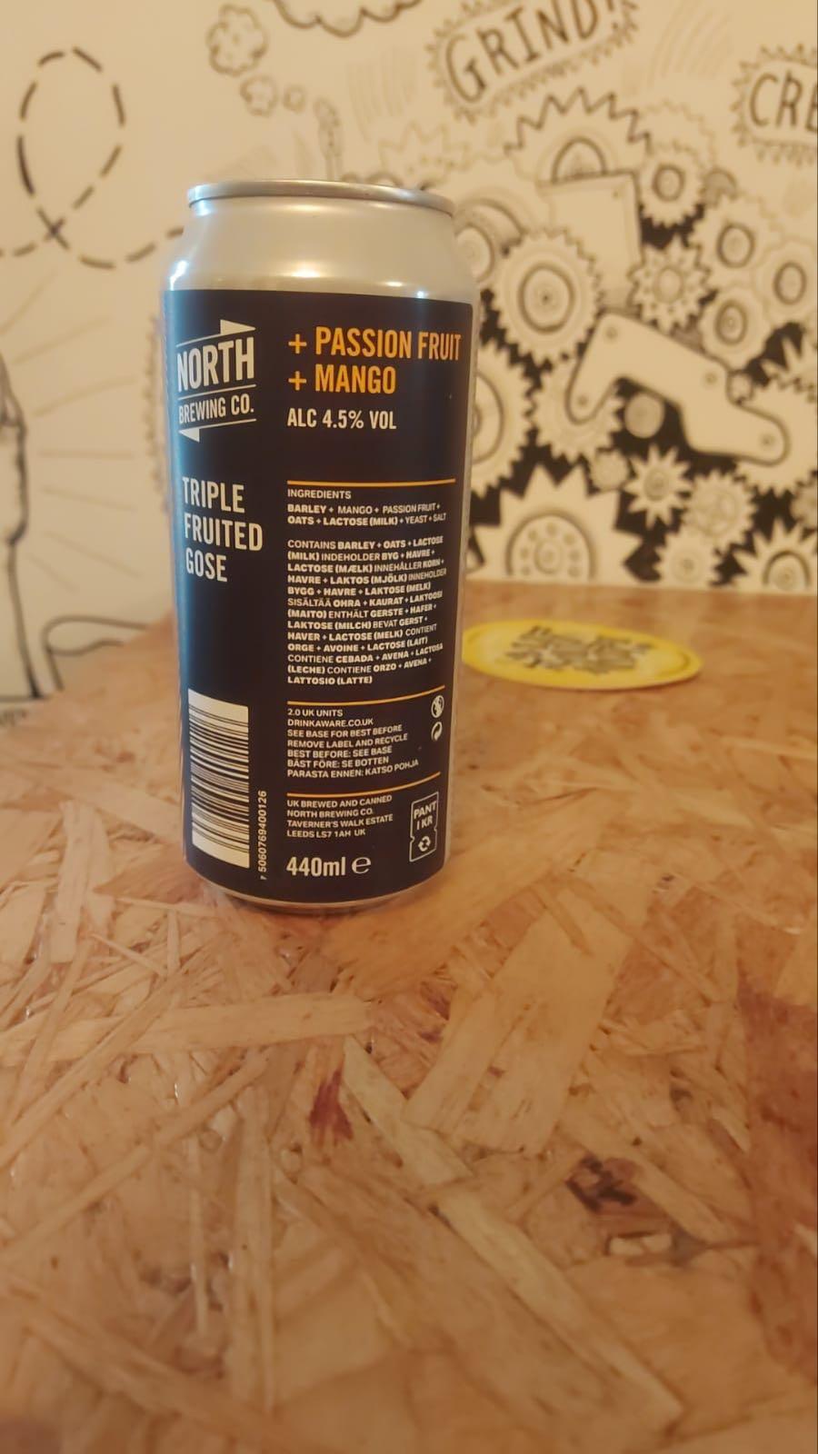 North Brew Co. Mango & Passionfruit Triple Fruited Gose 4.5%