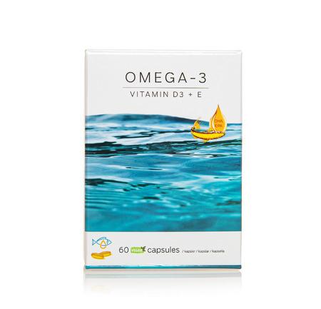 Immitec OMEGA-3 vitamin D3 + E 60 kaps