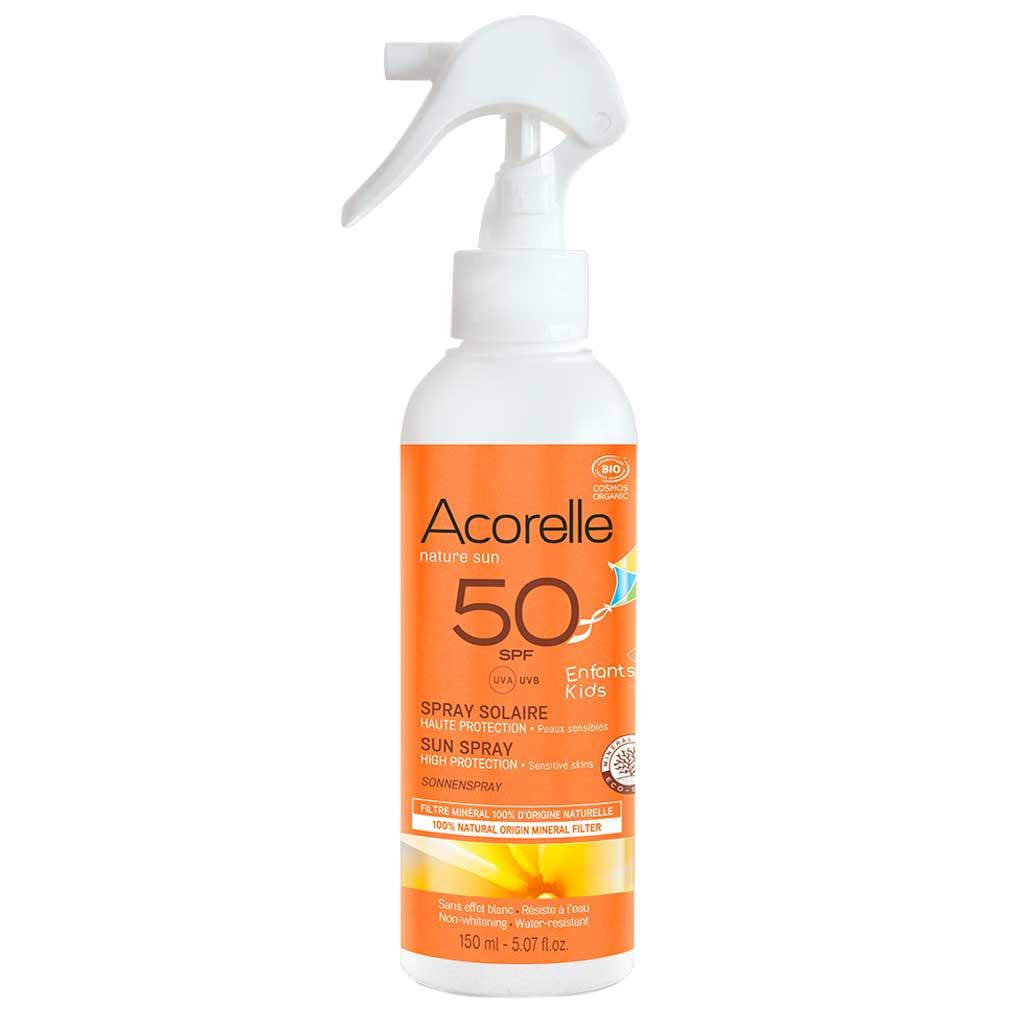 Acorelle aurinkosuojasuihke lapsille SPF50 150 ml
