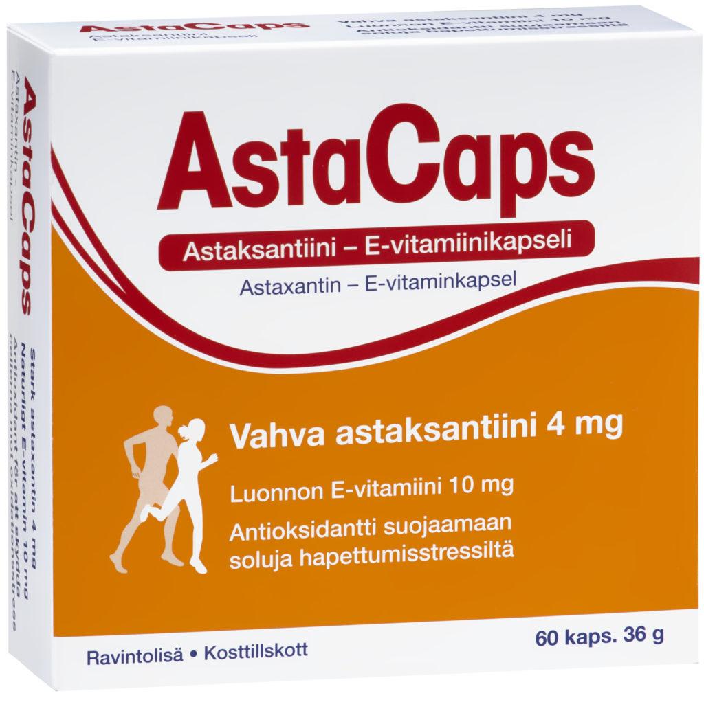 AstaCaps Astaksantiini – E-vitamiinikapselit 60 kaps