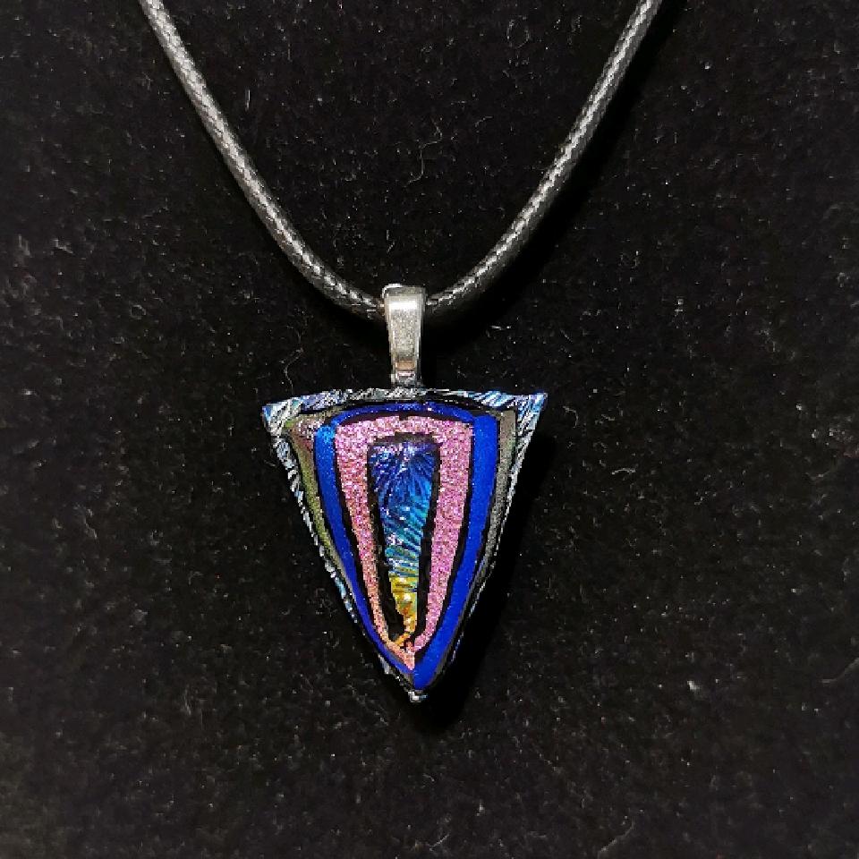 Grethes glass smykker, rosa/blå/lilla