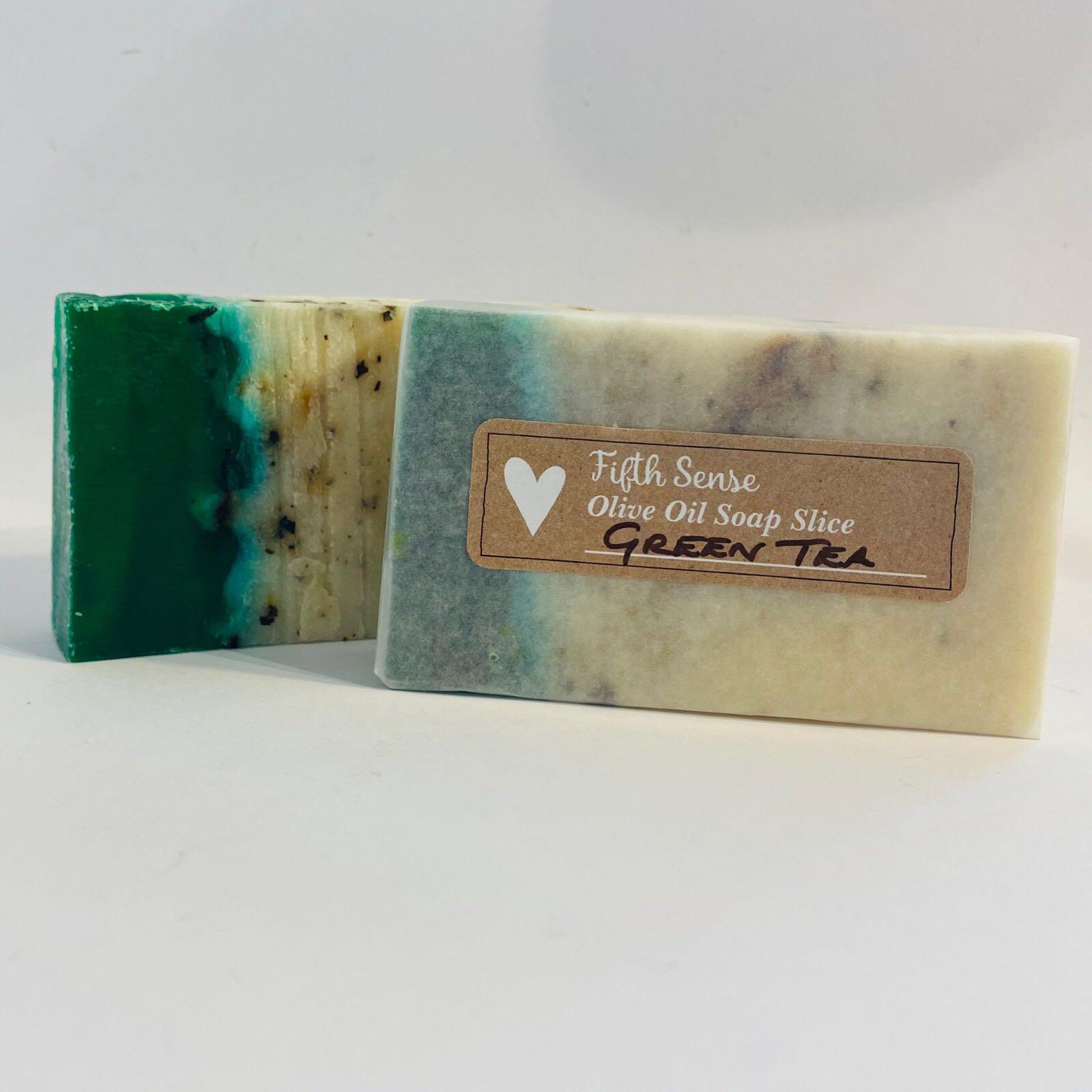 Green Tea Olive Oil Soap Slice