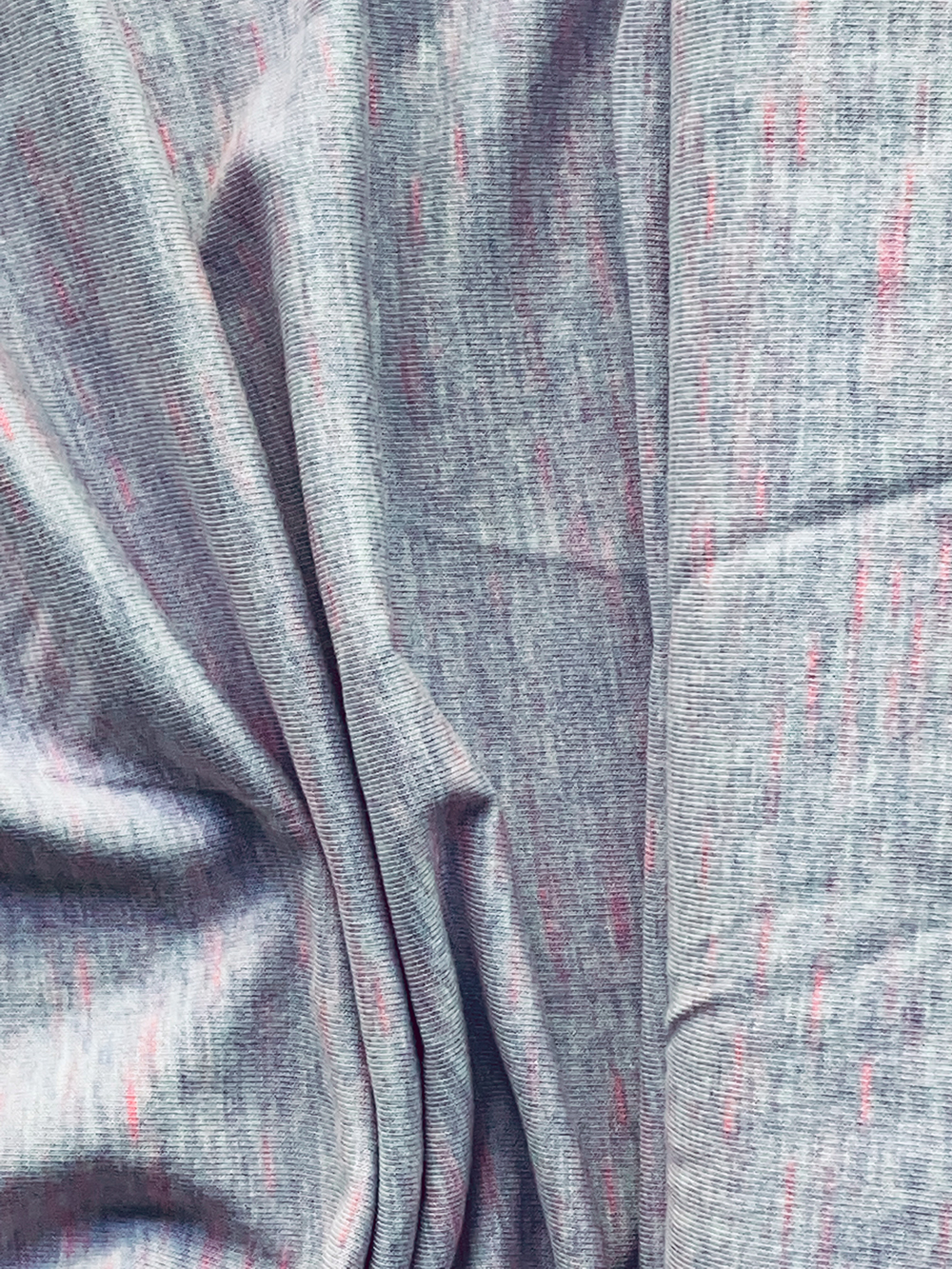 Viscose-Jersey meliert, flieder-neonpink