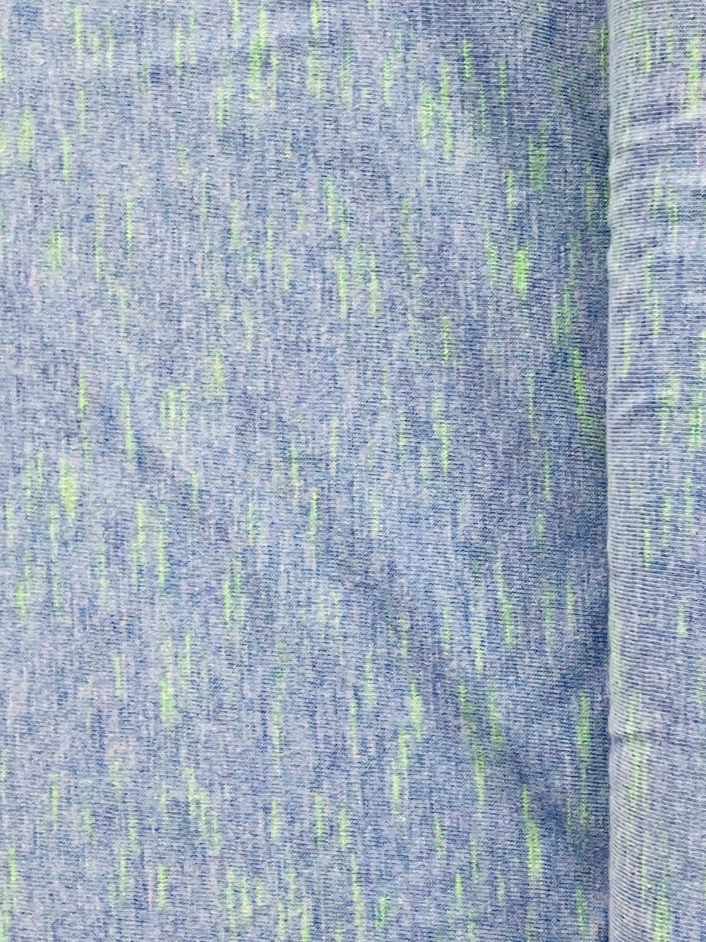 Viscose-Jersey meliert, blau-neongrün