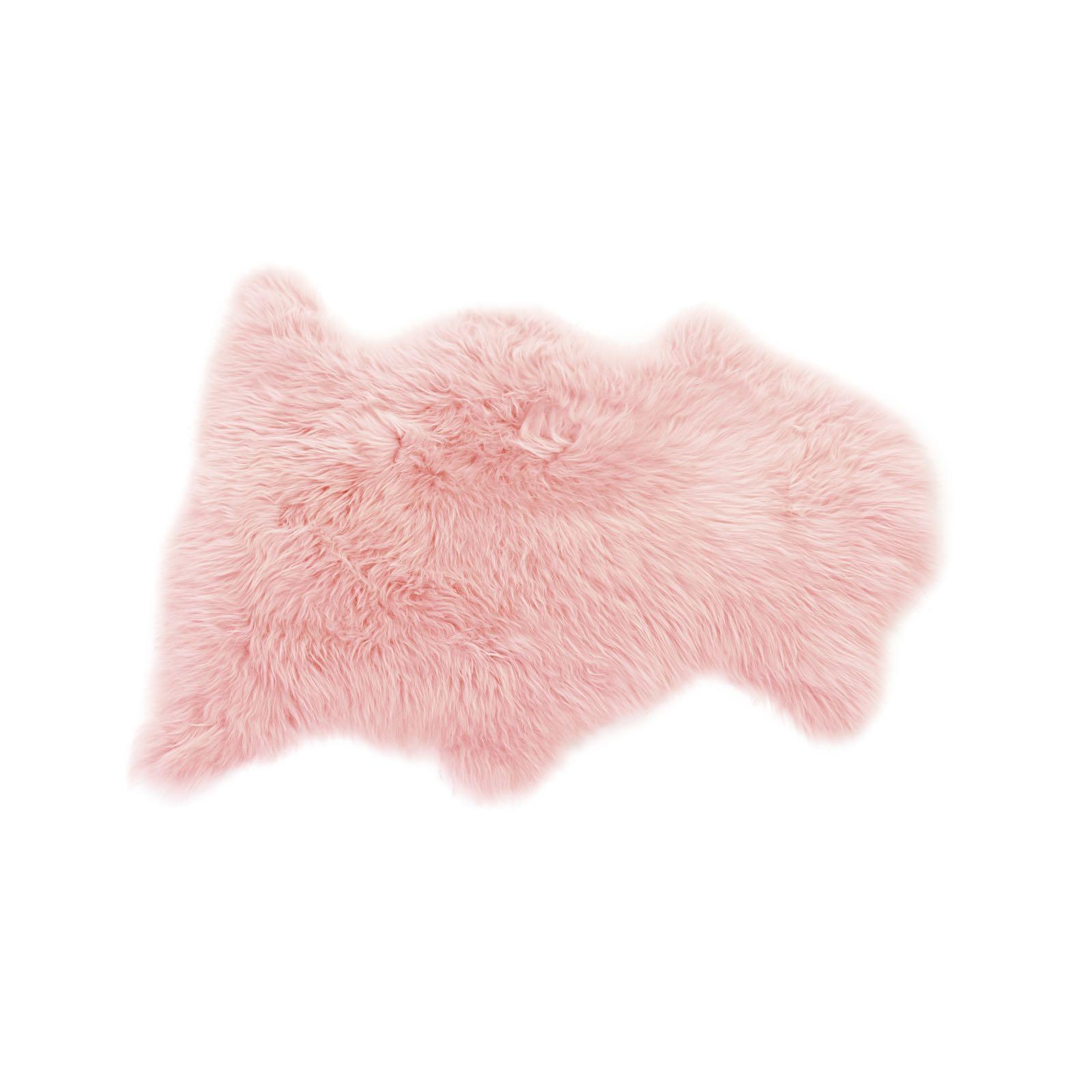 Baa Stool sheepskin rug in dusky pink