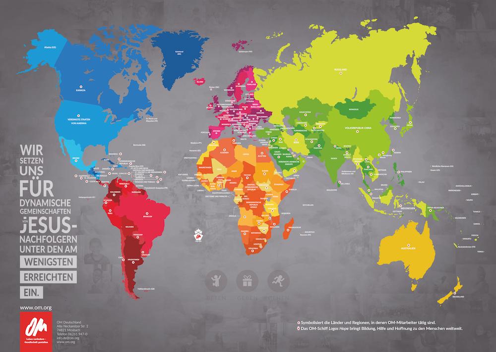 OM-Weltkarte A1 (groß)