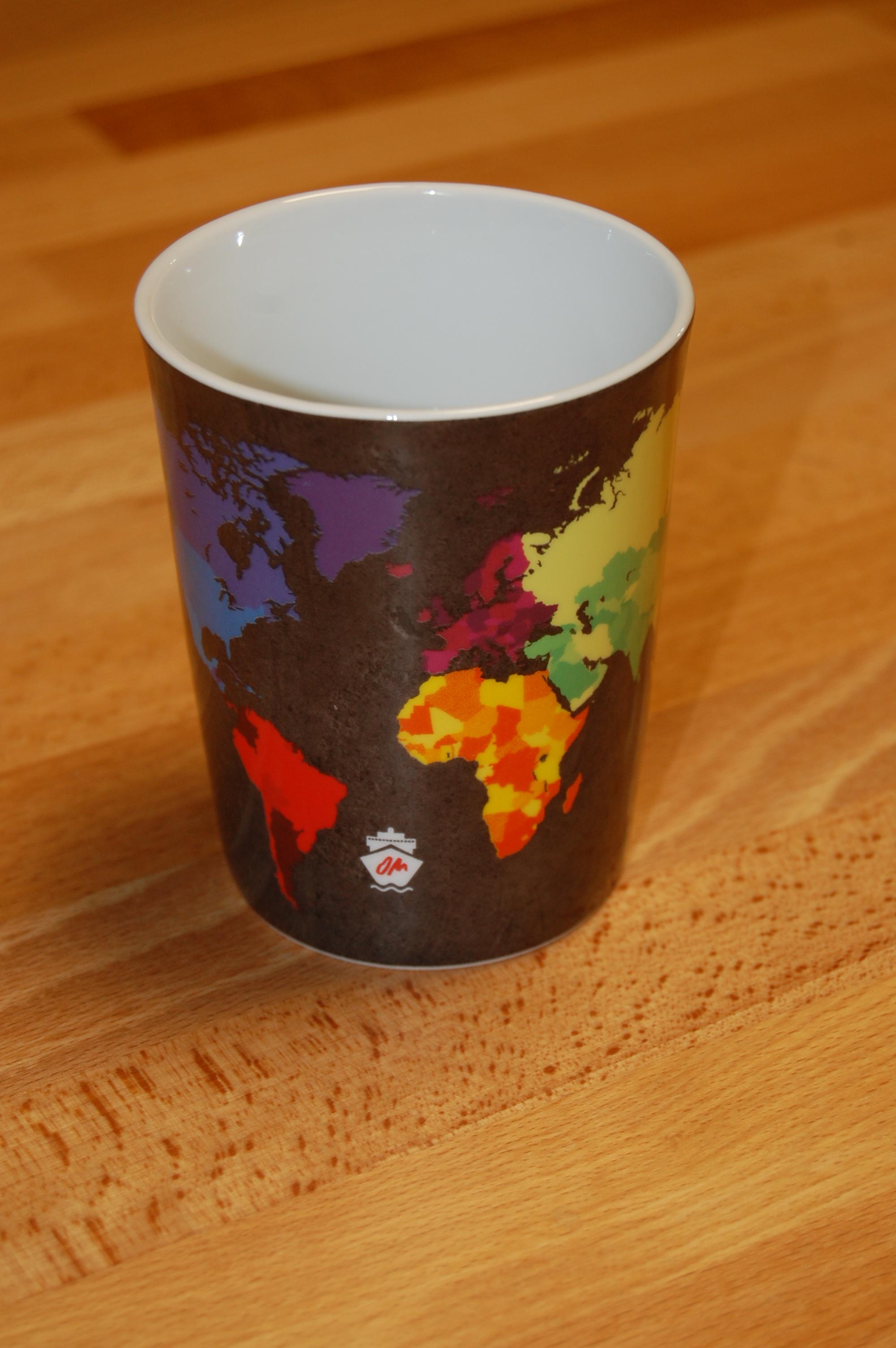 OM-Weltkarten-Tasse (Porzellan)