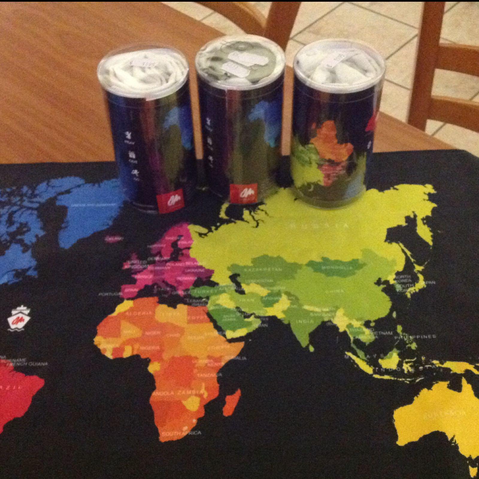 Handtuch Weltkarte