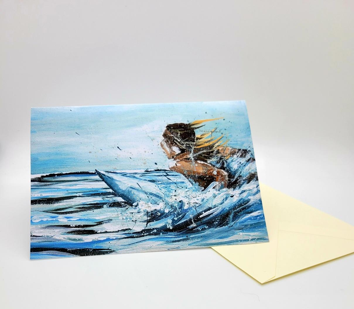 Greetings card. Soul surfer.