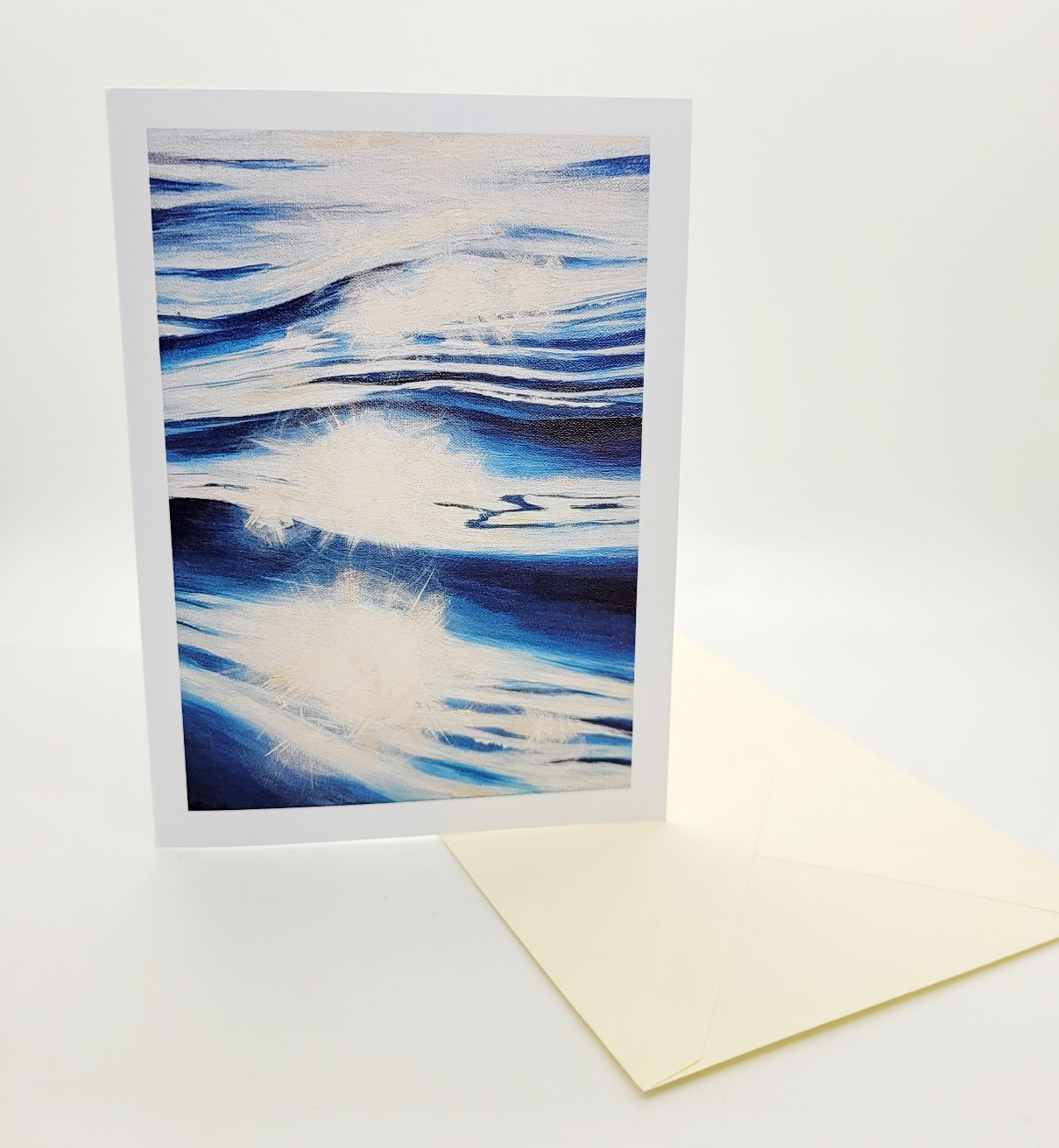 Greetings card. Surface sparkle