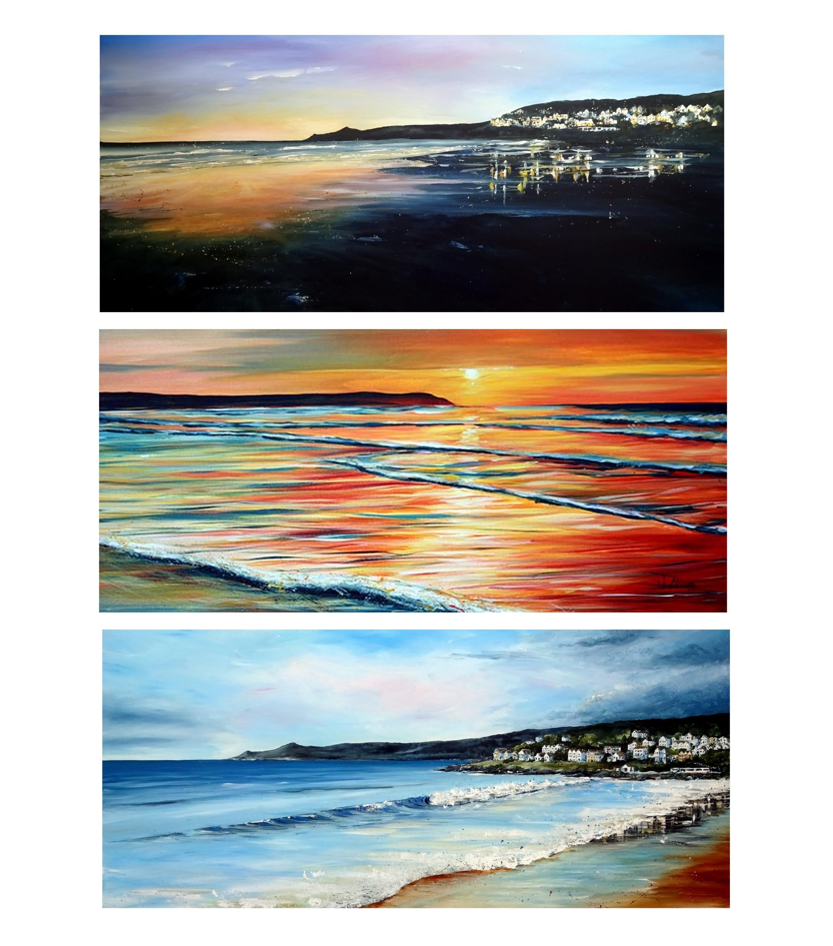Woolacombe beach panoramic prints