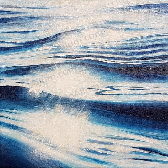 Art. Original painting 'surface sparkle' by J Allum