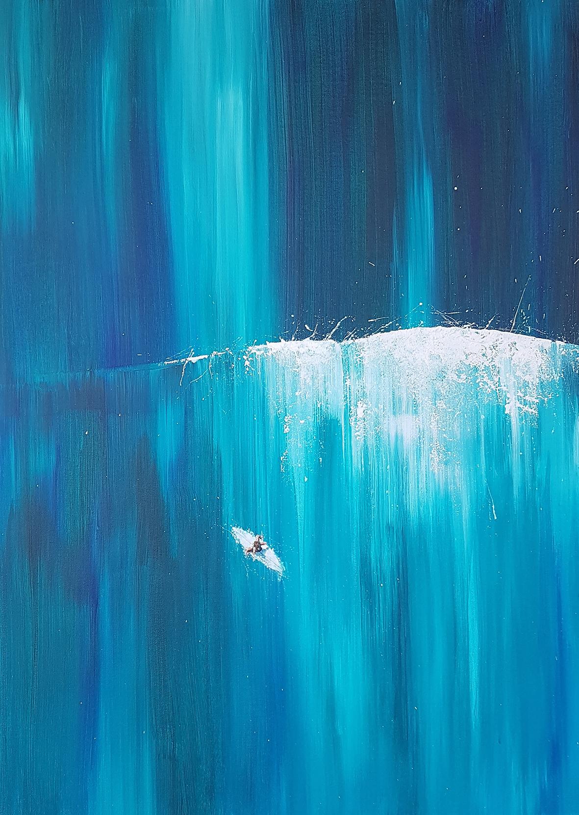 Art print. Aerial surfer
